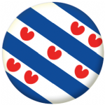 Friesland Region 25mm Pin Button Badge